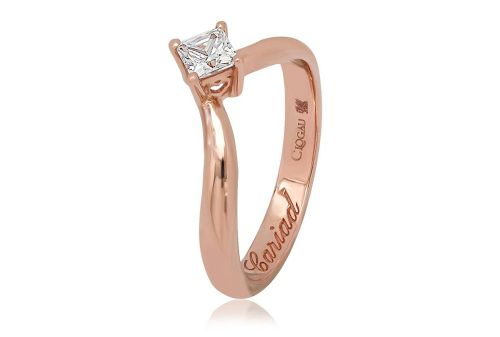 CLOGAU GOLD Make a Wish Rose Gold & Diamond Engagement Ring ENG3TPR